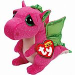 Ty Darla Pink Dragon Beanie Boo Medium