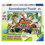 4-Wheeling 24pc Floor Puzzle