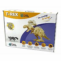 T-Rex Dinosaur - Sound Control Roaring and Biting Moving Large 3D Puzzle Woodcraft Kit