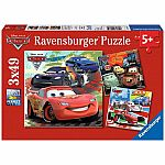 3x49pc Cars: Worldwide Racing Fun