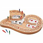 29 Shape Wood Cribbage Board