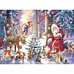 100pc Christmas in the  Forest