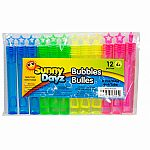 12pk Party Bubble Sticks, 6ml/Tube,