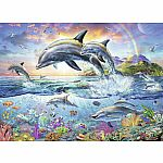 100pc Vibrant Dolphins w/Colour book