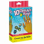 10 Optiart (Pop Art) Rings