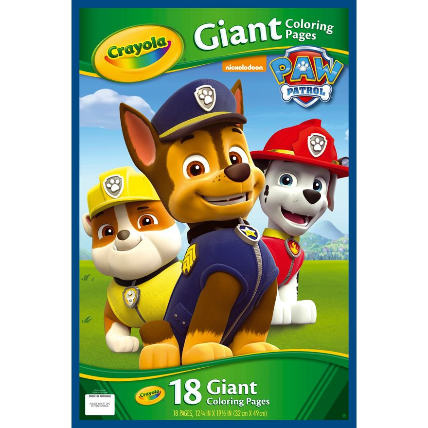 Crayola Paw Patrol Colour Pages The Granville Island Toy