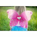 Heart Wings & Wand Set, Magenta