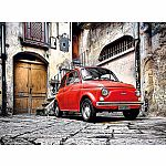 500pc Clementoni Red Car