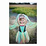Fairy Blossom Dress with Wings, Pink/Green, Md