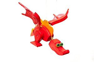 Red Dragon Wooden Mobile The Granville Island Toy Company