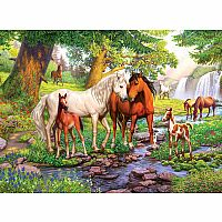 300pc XXL Horses By The Stream