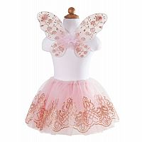 Rose Gold Tutu & Wings Set, Size 4-7