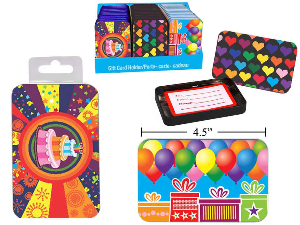 Birthday Gift Card Tin Box The Granville Island Toy Company