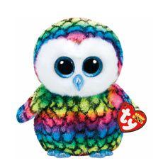 387b2392b8d Ty Owen Rainbow Owl Beanie Boo Small - The Granville Island Toy Company