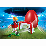 4947 - Soccer Player with Goal Egg