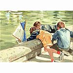 Children at the Garden M. Lapensee 1000 pc Puzzle