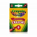 8pk Regular Crayons