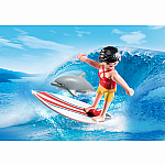 5372 - Surfer with Surf Board