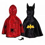 Reversible Spider/Bat Toddler Cape, Size 2-3T