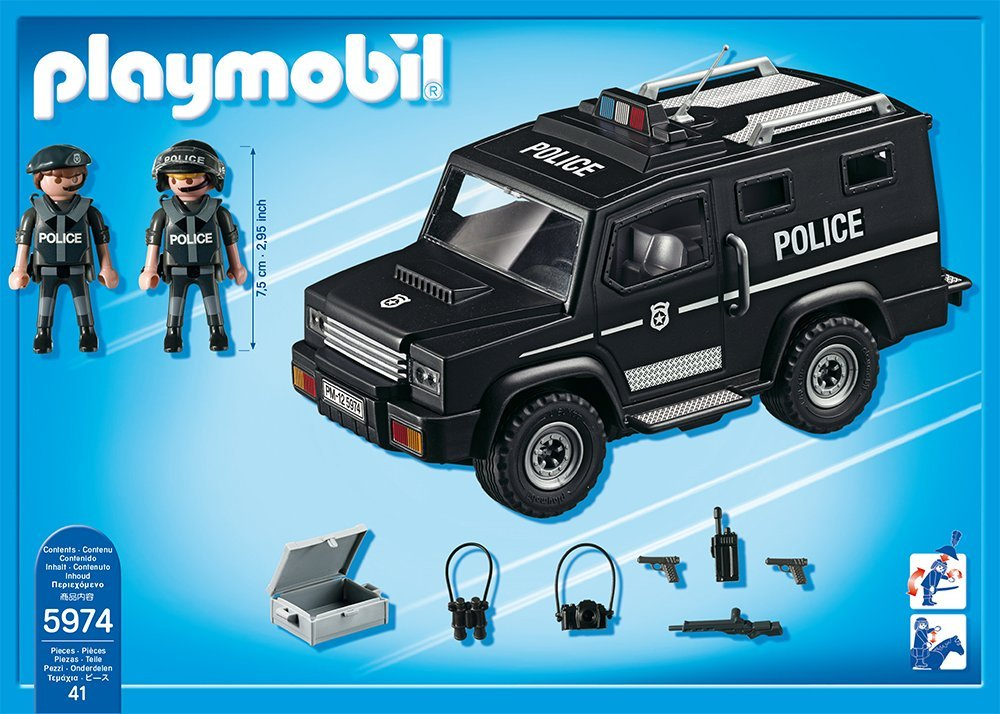 5674 tactical unit car the granville island toy company - Playmobil camion police ...