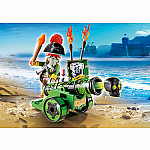 6162 - Green Interactive Cannon with Pirate Captain