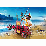 6163 - Red Interactive Cannon with Buccaneer