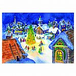 1000pc The Village Christmas Tree