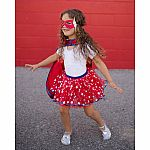 Superhero Tutu, Cape & Mask Set, Size 4-7