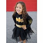 Bat Girl Dress & Cape, Size 5-6