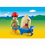 6961 - Worker with Wheelbarrow