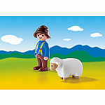 6974 - Shepherd with Sheep