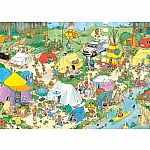 1000pc Jan Van Haasteren Camping in The Forest