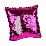 Magic Sequin Pillow - Pink/Silver