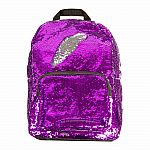 Magic Sequin Backpack-Purple/Silver