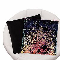 Magic Sequin/Velvet Pillow - Pink/Purple