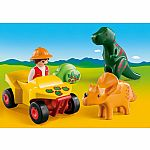 9120 Playmobil 123 Explorer with Dinos