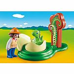 9121 Playmobil 123 Girl with Dino Egg