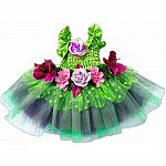 Fairy Blooms Deluxe Dress Green with Wings, Sm