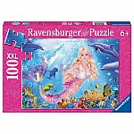 100pc Mermaid & Dolphins Glitter