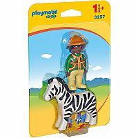 Playmobil 123 Ranger with Zebra