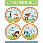 Baby's Monthly Milestone Stickers: Woodland Friends