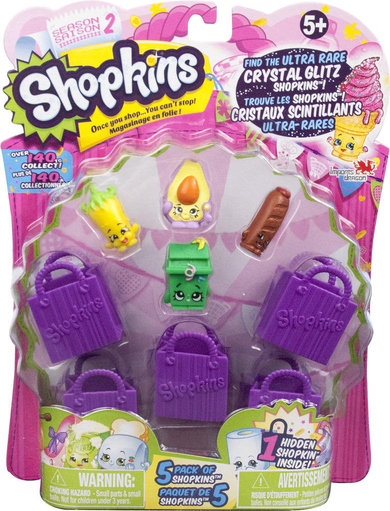 Shopkins Season 2 5Pk Styles Will Vary
