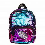 Magic Sequin Mini Backpack-Multi/Silver
