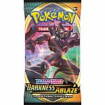 Pokemon Trading Cards - Sword & Sheild: Darkness Ablaze Booster