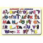 Painless Learning Alphabet & Animals Placemat