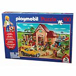 100pc Playmobil Puzzle - At The Vet