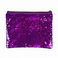 Magic Sequin Pouch - Purple/Silver