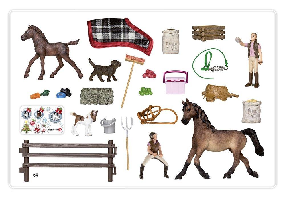 Schleich advent calendar horses for Playmobil pferde set