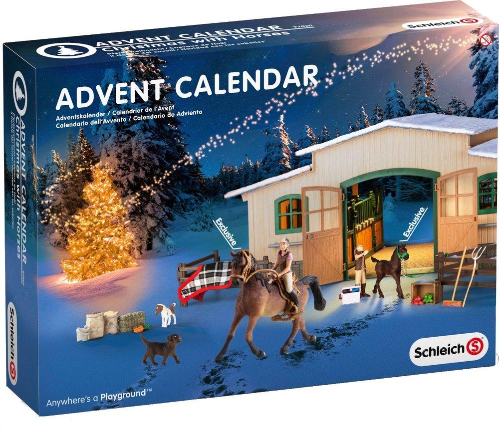 schleich advent calendar horses. Black Bedroom Furniture Sets. Home Design Ideas