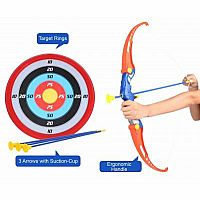 Archery Set with Bows and target (67cm)